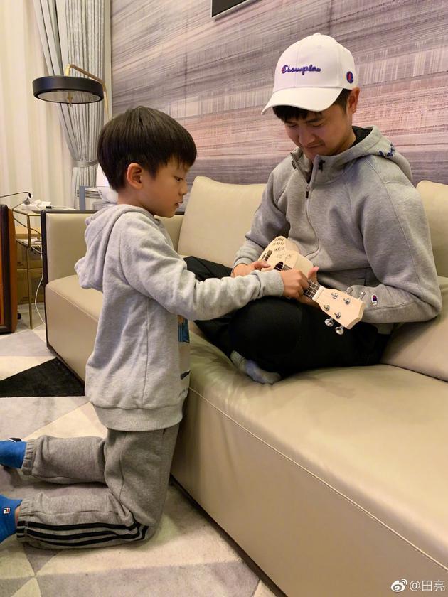 田亮与儿子