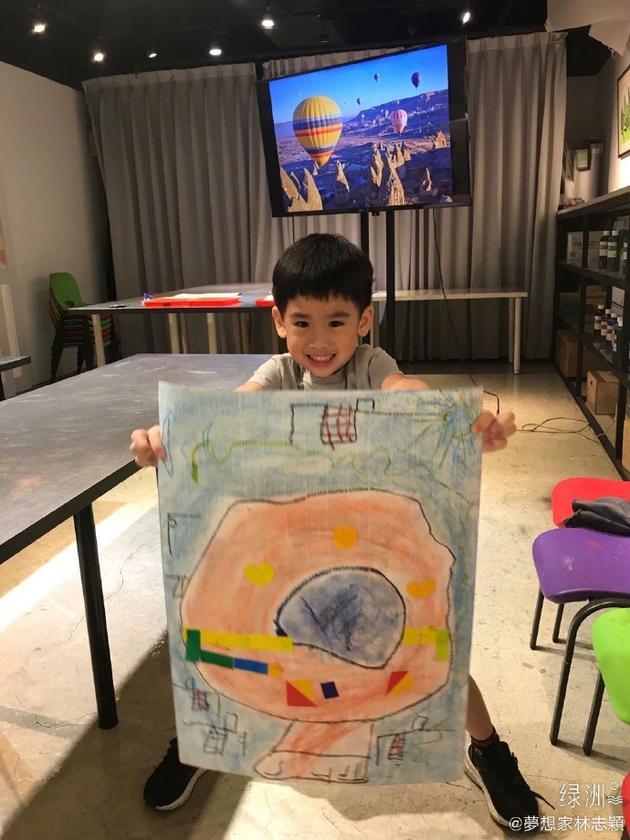 林志颖儿子的画