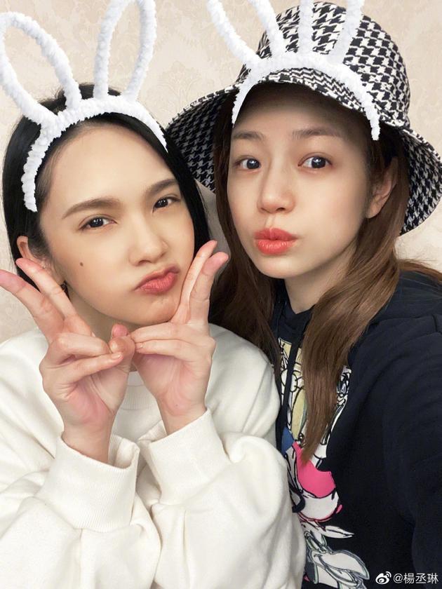 见面了!杨丞琳与陈妍希同框合照 用兔耳滤镜可爱