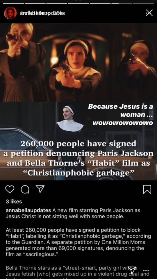 帕丽斯演耶稣遭作梗