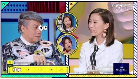 佘诗曼做客蔡康永节目