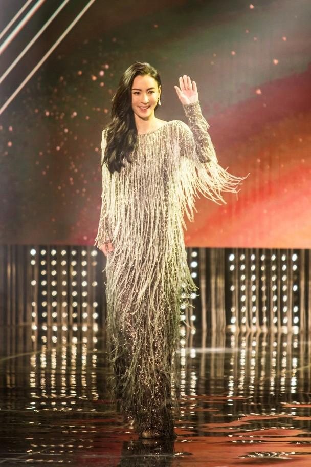 张柏芝现身颁奖典礼。