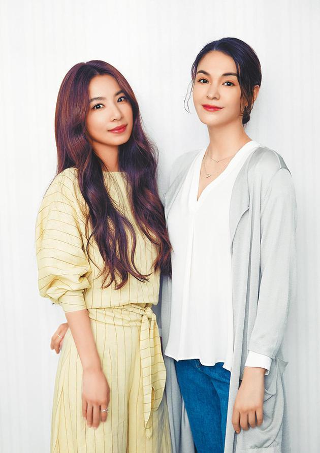 田馥甄(左)推出新歌MV,邀来张榕容跨刀主演。