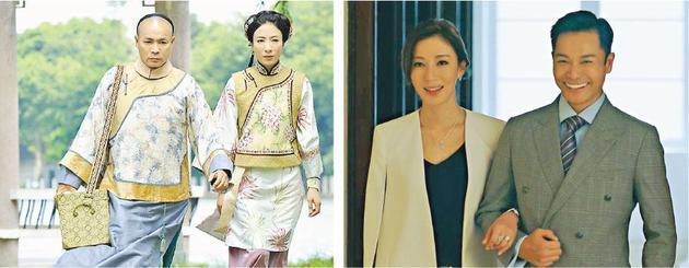 郭晋安与杨怡曾在《末代御医》(左图)合作,这次于《再创世纪》(右图)》再戏斗,彼此更有火花。
