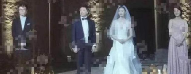 童瑶婚礼现场照
