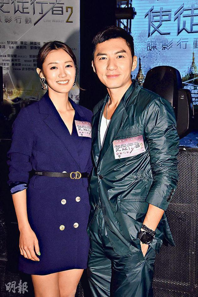 张宝儿(左)与男友袁伟豪都有份演出《 使徒行者2谍影行动》。