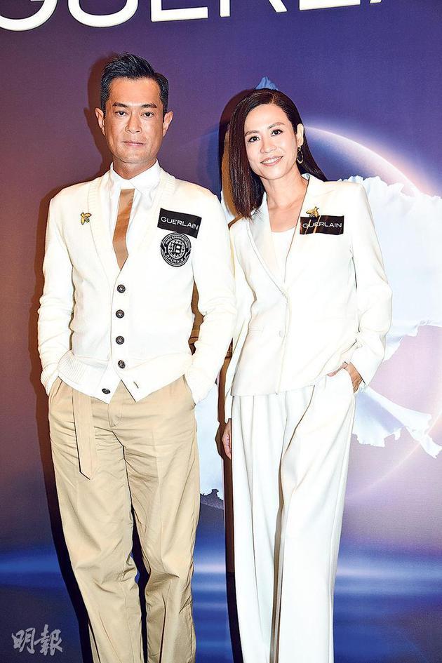 古天乐(左)与宣萱(右)相识超过二十年。