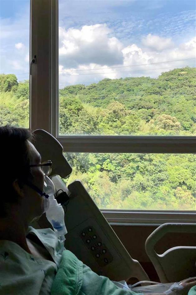 林志炫生日前镇日突po文,曝光身体出状况,竟戴着氧气罩还入院。