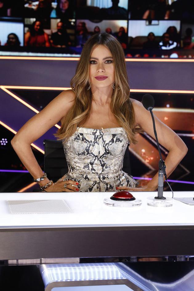 《摩登家庭》索菲娅·维加拉(Sofia Vergara)担任《美国达人秀》评审。(图/CFP)