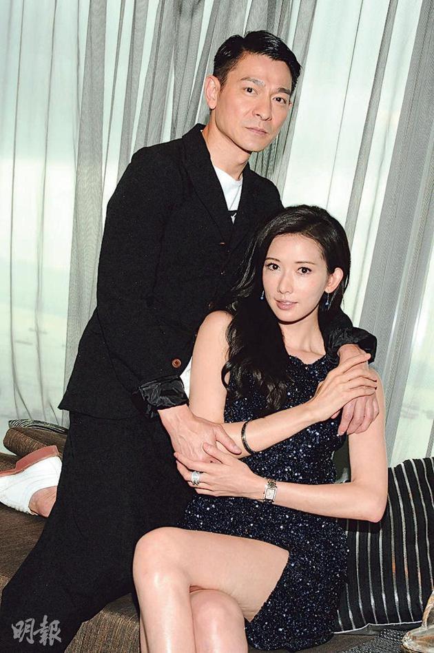 刘德华(左)与林志玲(右)