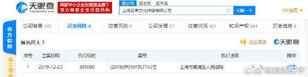 上海笑果文化传媒有限公司被列为被执行人