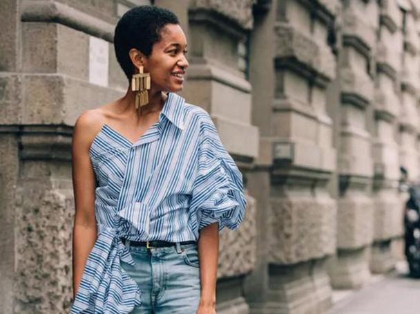 条纹衬衫到底怎么穿才最时髦?