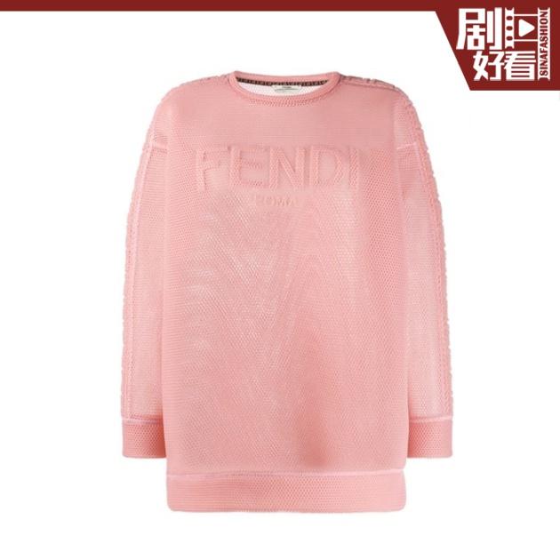 FENDI-logo网纱套头衫