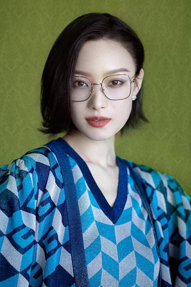 倪妮酷飒妆