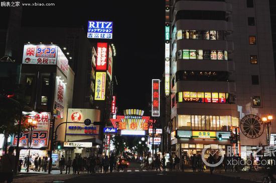 日本大阪购物区夜景