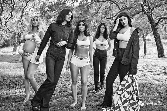 卡戴珊家门演绎Calvin Klein 2018 秋冬 #mycalvins 主题广告大片|照:Willy Vanderperre