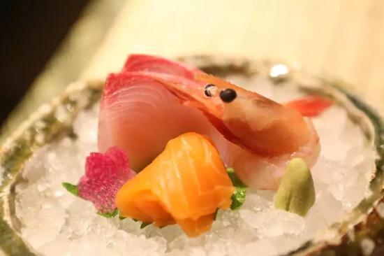 刺身拼盘(三文鱼,鰤鱼,甜虾)