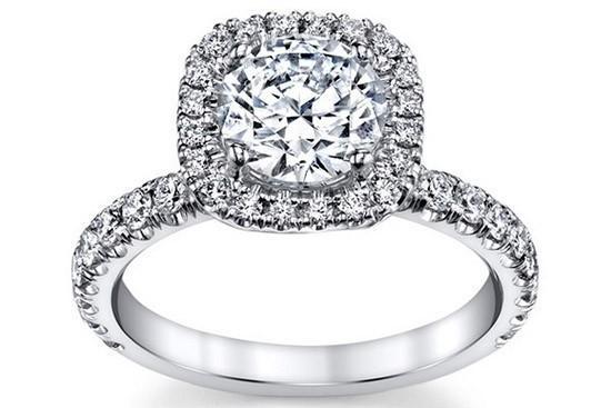 圆形或方形切割钻石