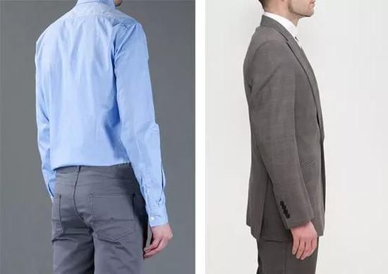�衣长袖衬衫或者西装时,贴身的长袖能够充分展现手臂自然曲势,自侧面看起来笔挺硬直但以无去自然