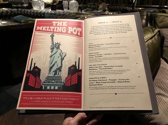先看酒单,曼哈顿的感觉已经呼之欲出