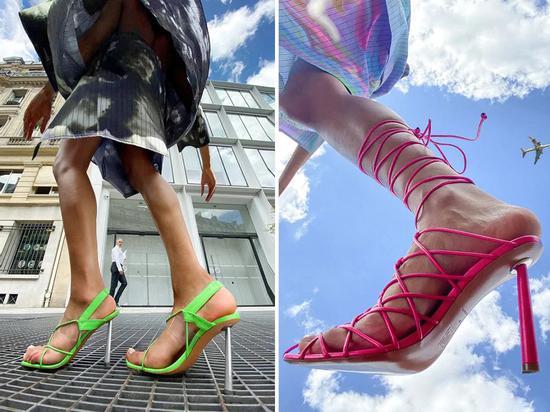 """显腿长又显腿直 还是双能从""""9点穿到午夜""""的水晶鞋"""