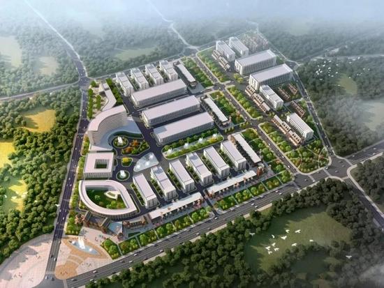 兴城市斯达威超级产业园区鸟瞰图