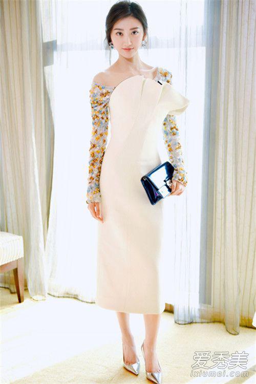 动漫穿着礼服的少女_《长城》热映 衣品在线的景甜宣传造型各种美|景甜|衣品|造型 ...