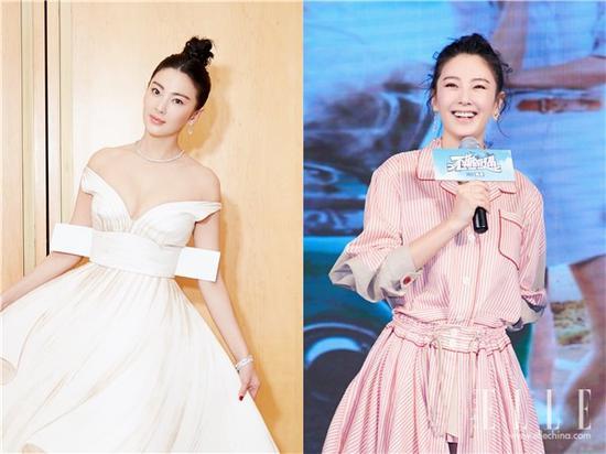 杨幂刘涛减龄杂毛妆容 蓬松微卷的半丸子头美哭了一票粉丝 娱乐八卦 第9张