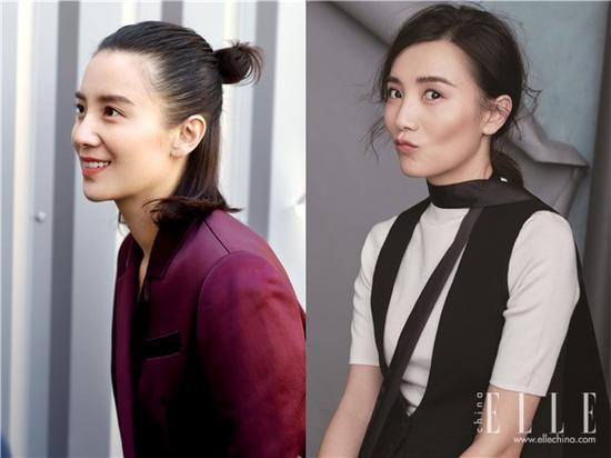 杨幂刘涛减龄杂毛妆容 蓬松微卷的半丸子头美哭了一票粉丝 娱乐八卦 第7张