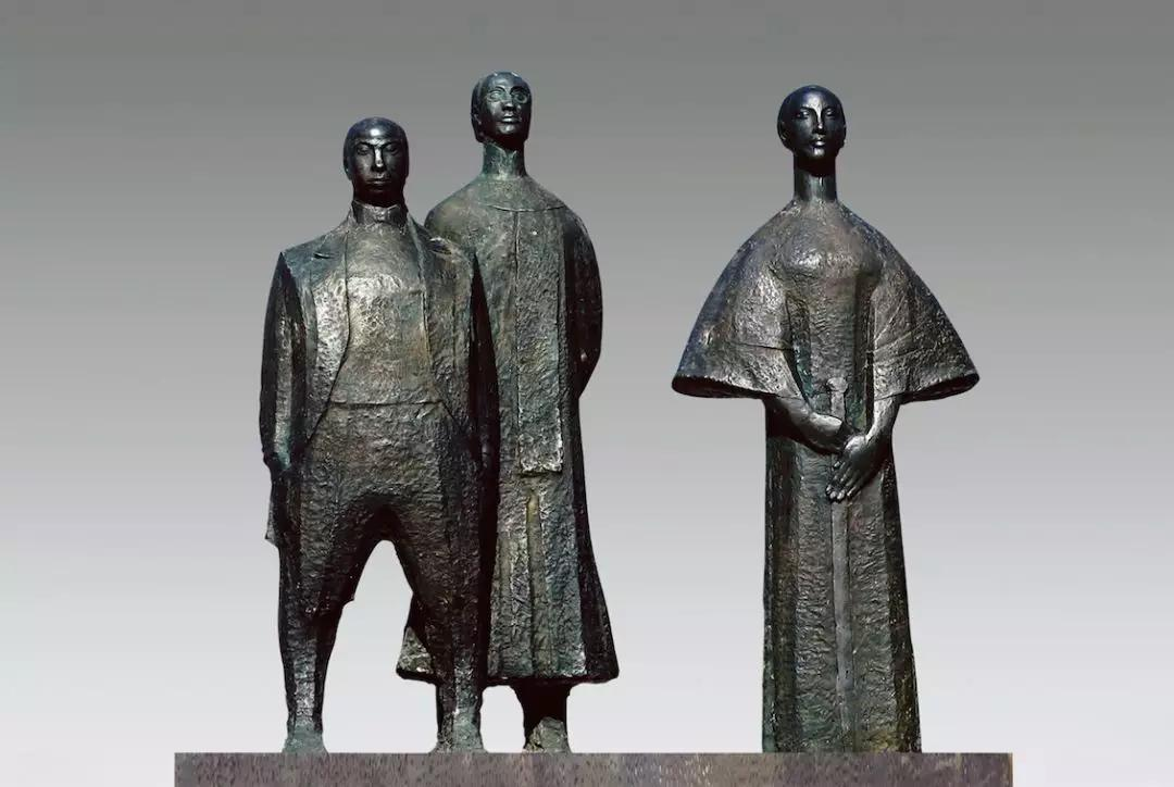 鑒湖三杰 / 曾成鋼 / 140 ×75 ×135 cm / 玻璃鋼(鑄銅)/ 1989