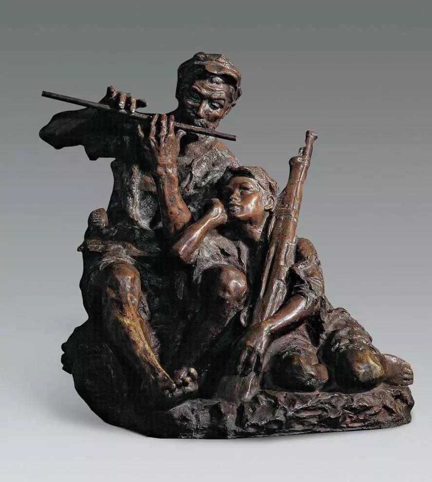 艱苦歲月 / 潘 鶴 / 160 ×183 ×180 cm / 玻璃鋼 / 1956/   廣州潘鶴美術館藏