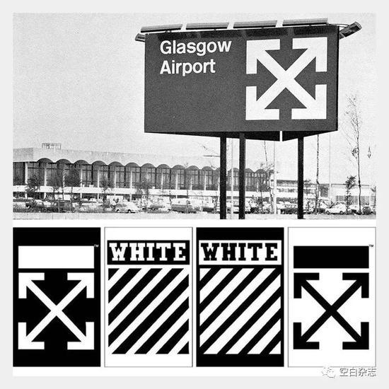 Diet Prada 考古有 Off-White 品牌 LOGO 同英国格拉斯哥机场在 1965 年产的 LOGO 如出一辙