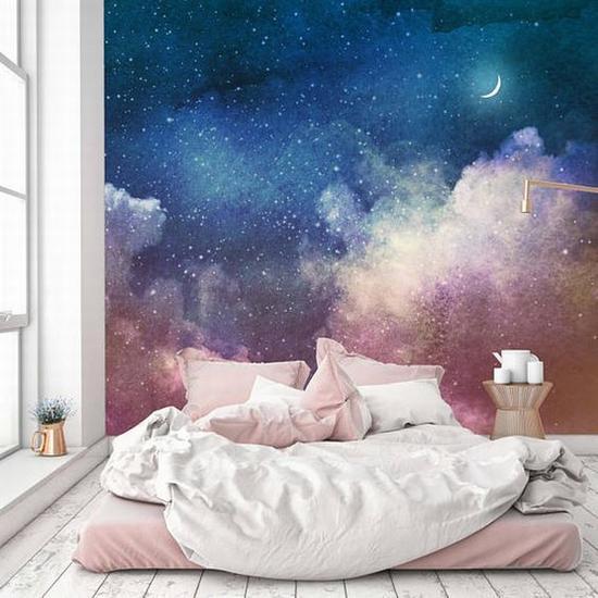 高难度的星空墙 图片源自etsy