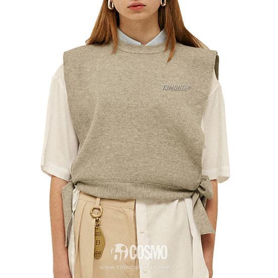 13MONTH 灰色针织背心 售价508长