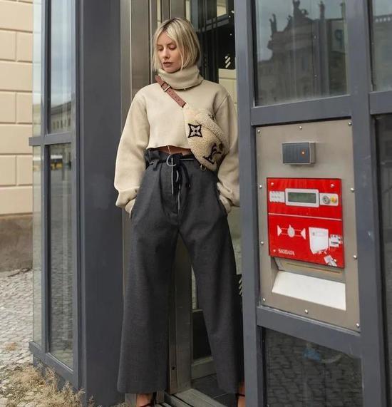肯豆Bella的合体出街暗号西装裤 刘诗诗也get到了