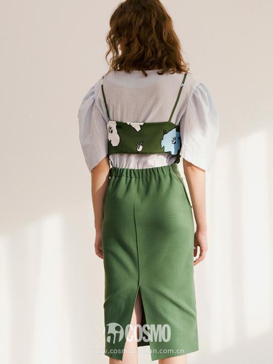 SOONSU 优雅褶皱绑装饰吊带衫 售价1612长