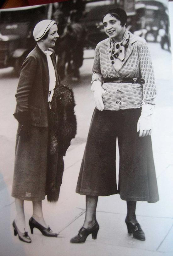 Schiaparelli設計的闊腿褲 圖片來源:Image