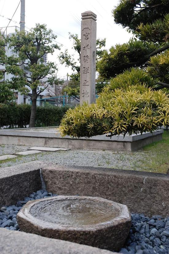 灘的宮水發祥地的石碑