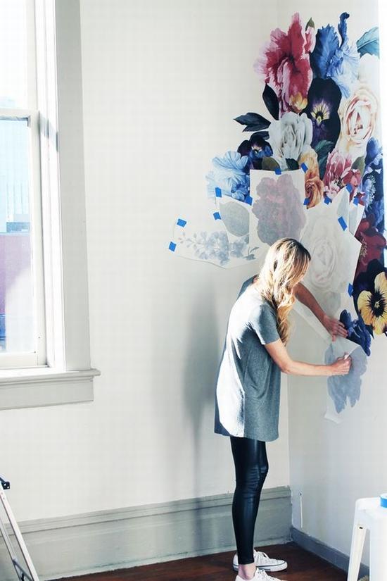 用花样墙贴也可以 图片源自www.uwdecals. com