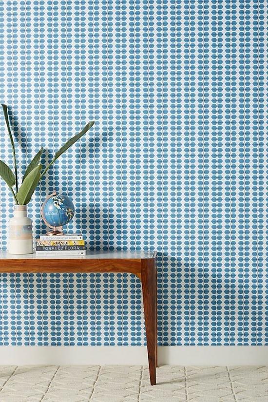 壁纸是最简单的墙面装饰办法 图片源自Anthropologie