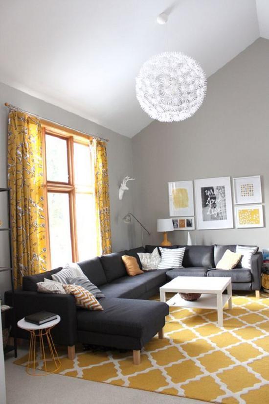 U字形沙发需要空间宽敞 图源自decoist.com