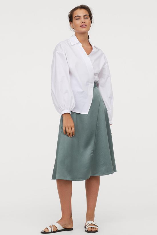 薄荷绿色半身裙 H&M