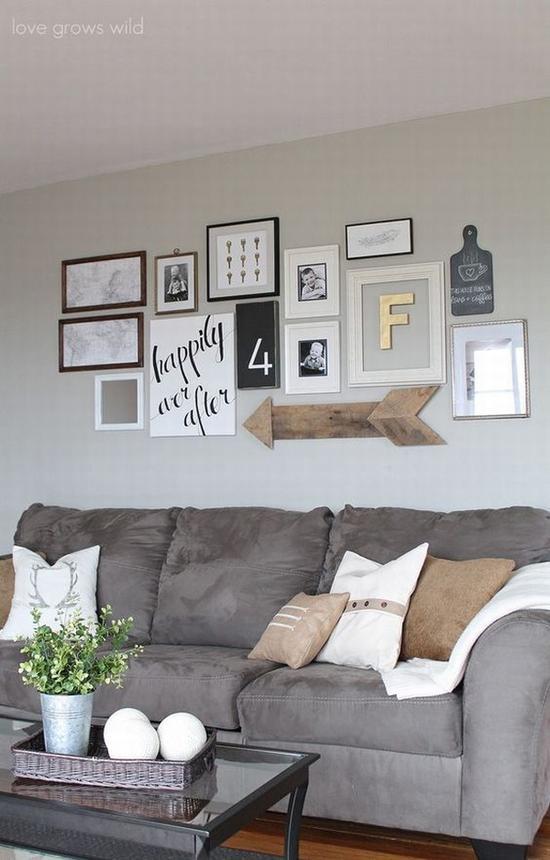 画框的排列组合彰显个人风格 图片源自lovegrowswild.com