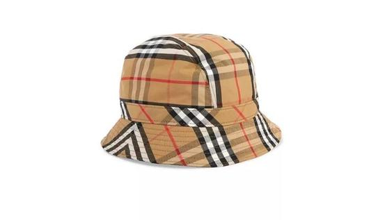 BURBERRY格纹纯棉渔夫帽