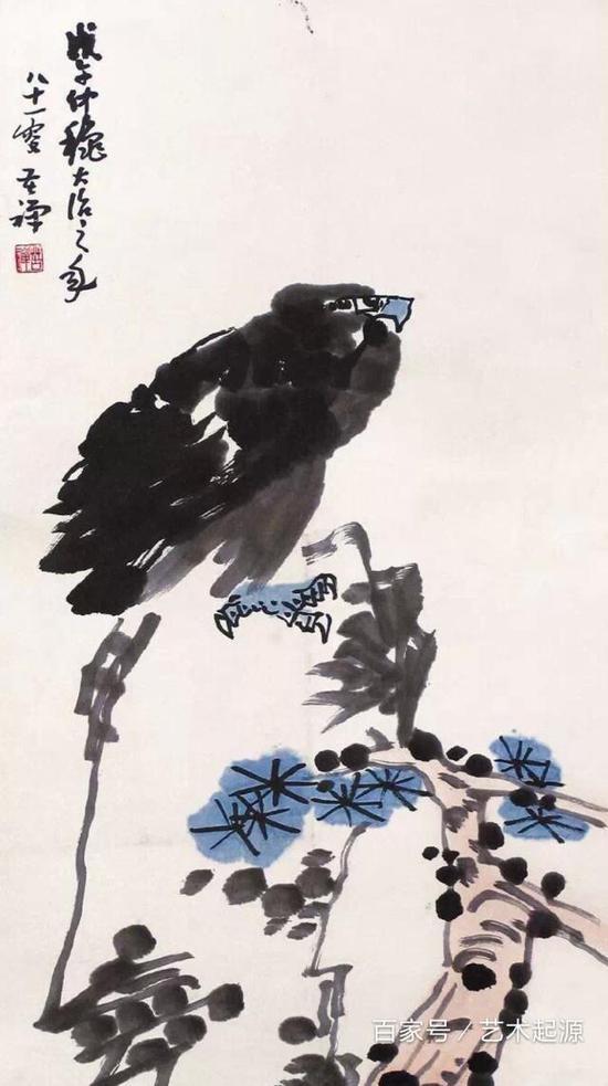 齊白石畫老鷹一只價值近一億