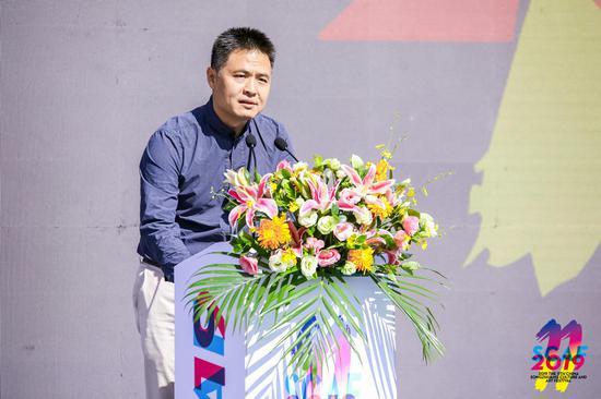 北京通州區委常委宣傳部部長湯一原在開幕式上發表講話