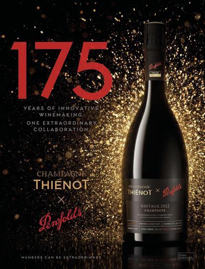 Penfolds奔富携手Thiénot亭诺香槟华丽呈献限量珍藏版香槟