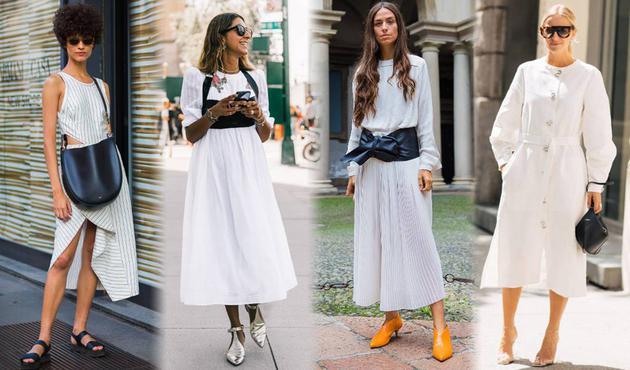 """小白裙才不""""小白"""" 时装精用它搭遍春夏潮鞋"""