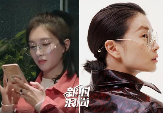 江疏影戴Jinnnn眼镜