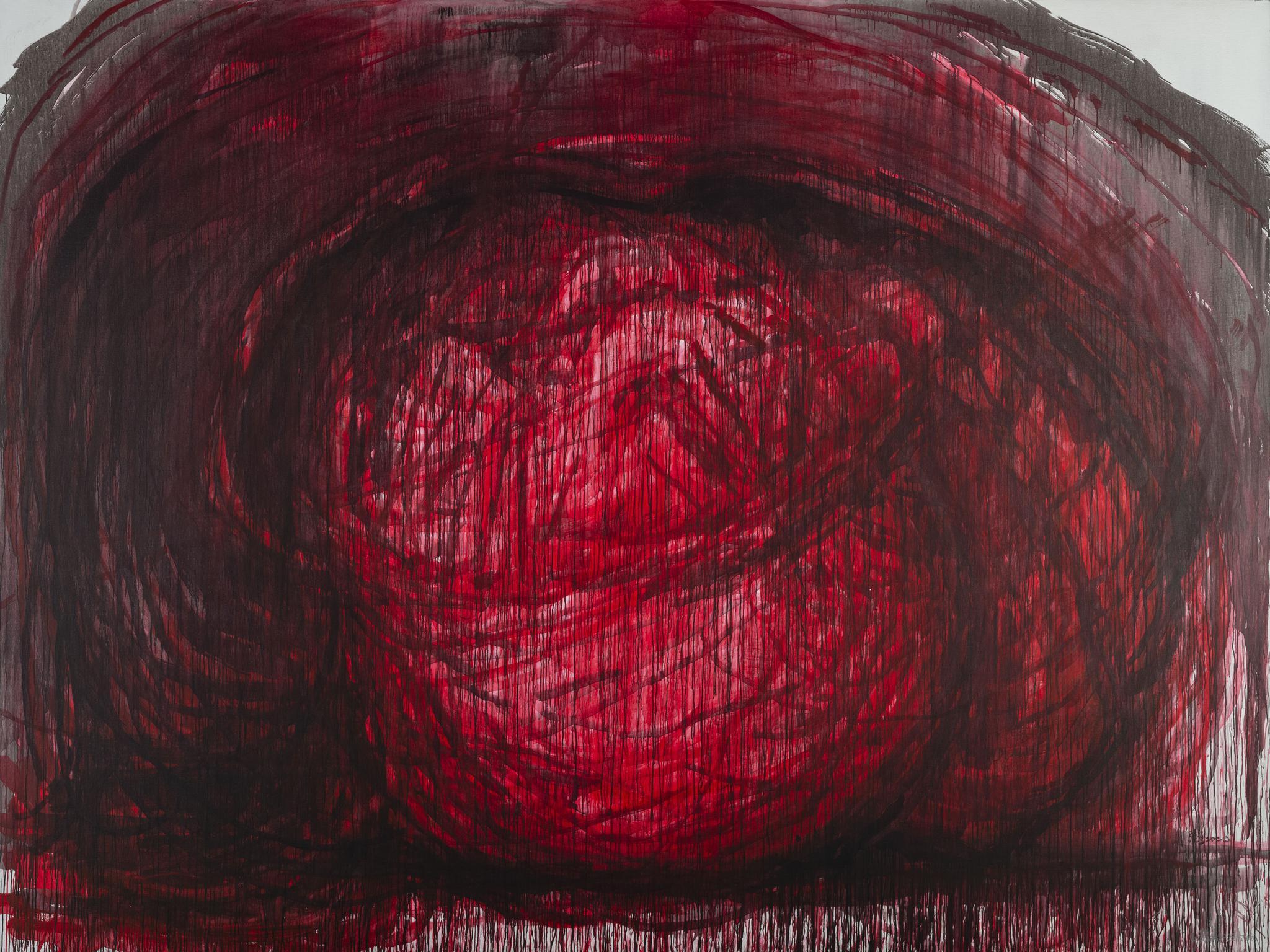 張洹, b.1965, Love No.7, 2020, Arcylic on Linen, 300 x 400 x 5 cm